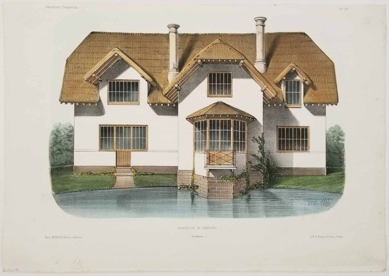 Habitation de Campagne. (Angleterre.). FRENCH COUNTRY HOMES.