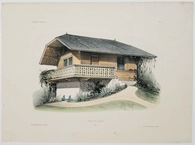 Chalet de Longpont. (Oise). FRENCH COUNTRY HOMES.