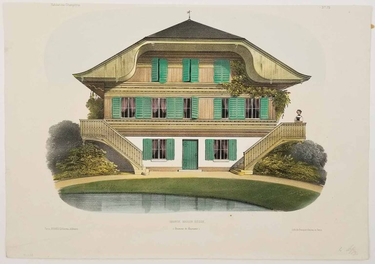 Grande Maison Suisse. (Environs de Lausanne). FRENCH COUNTRY HOMES.