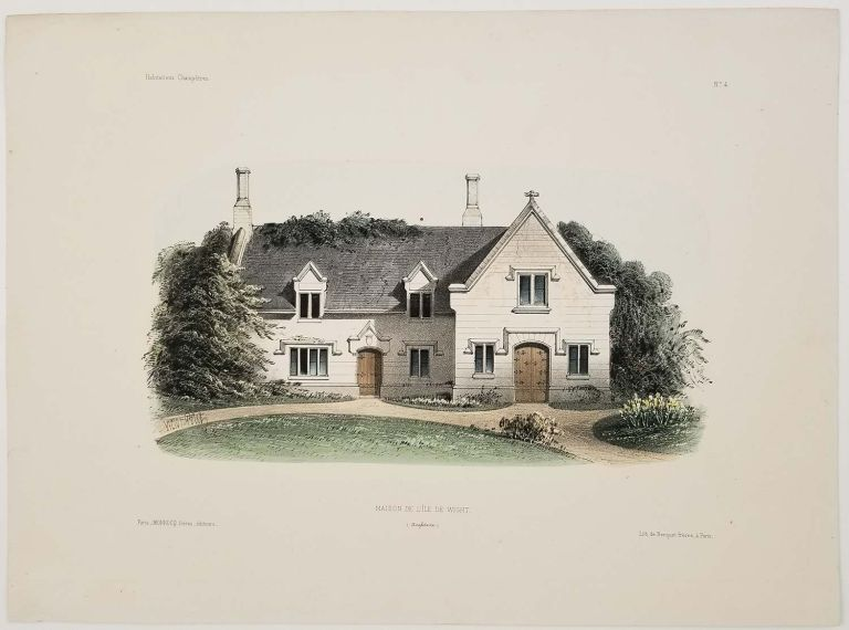 Maison de L'ile de Wight. (Angleterre). [House on the Isle of Wight]. COUNTRY ARCHITECTURE.