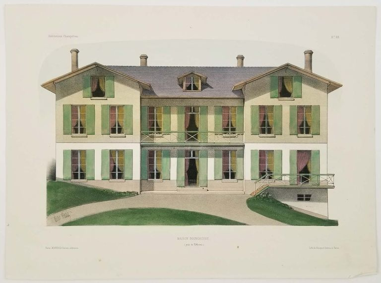Maison Bourgeoise. (Pres de Thoune.). FRENCH COUNTRY HOMES.