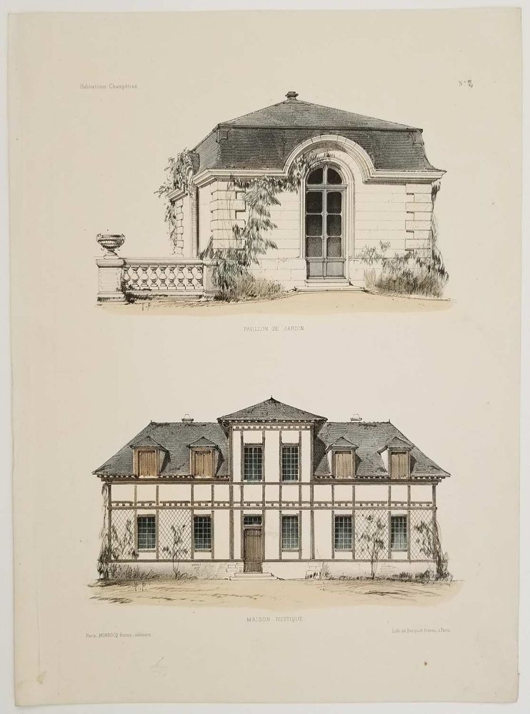 Pavillon de Jardin. Maison Rustique. FRENCH COUNTRY ARCHITECTURE.