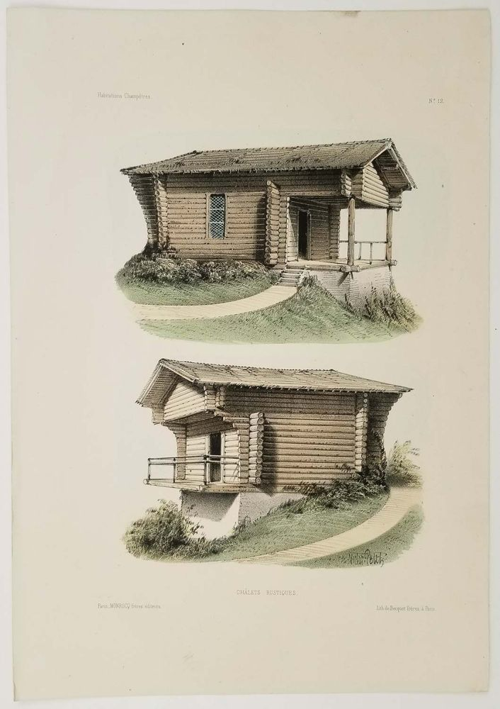 Chalets Rustiques. FRENCH COUNTRY HOMES.