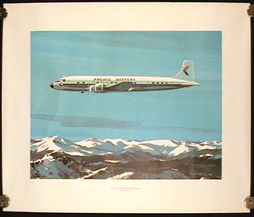 Pacific Western Airlines Douglas DC - 6B. PACIFIC WESTERN.
