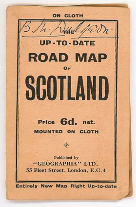Up-to-date Road Map of Scotland. SCOTLAND.