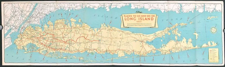 Places to Go and See on Long Island 1931. NEW YORK - LONG ISLAND.