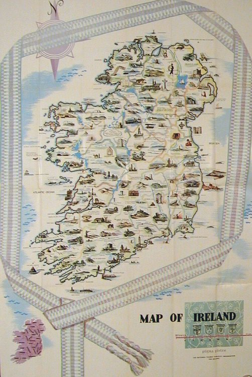 L'Irlande Vous Invite. (Map title: Map of Ireland). IRELAND.