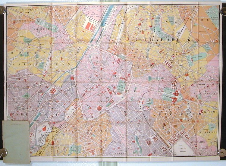Map of Brussels and Sightseeing. BELGIUM - BRUSSELS.