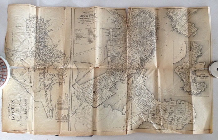 The Boston Almanac for the Year 1853. No. 18. MASSACHUSETTS - BOSTON ALMANAC WITH MAP, Damrell, Moore and George Coolidge, Moore, George Coolidge.