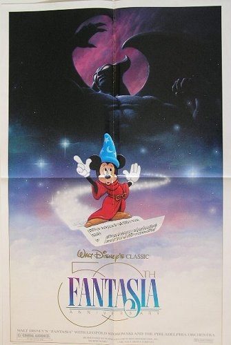 Walt Disney's Fantasia 50th Anniversary Commemorative Program. WALT - POSTER DISNEY.