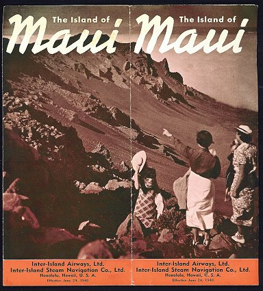 The Island of Maui. HAWAII - MAUI - AIRLINES.