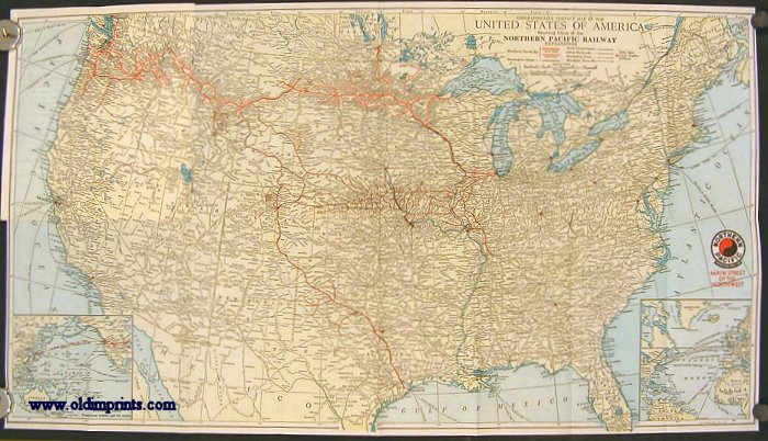 Geographically Correct Map of the United States of America. Showing Lines of the Northern Pacific Railway. (Map of the United States. Main Street of the Northwest). NORTHERN PACIFIC.
