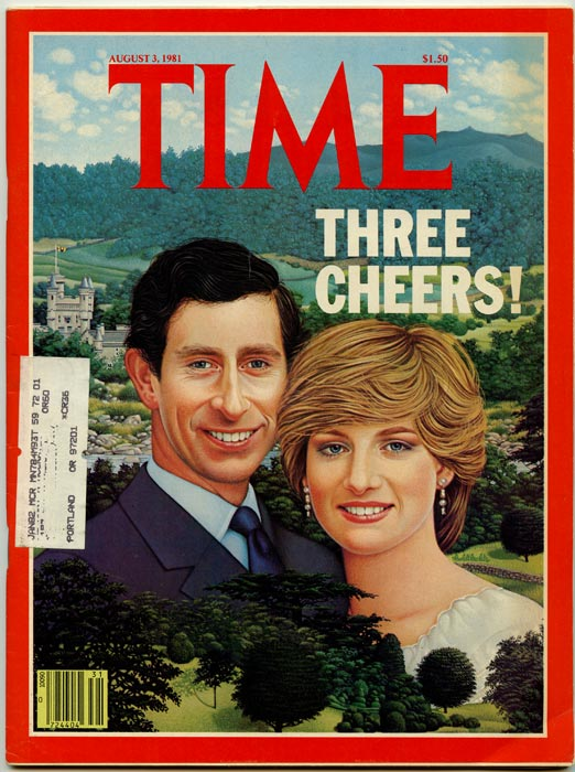 """Time The Weekly Newsmagazine. 1981 - 08 - 03. """"Three Cheers!"""" ROYALTY."""