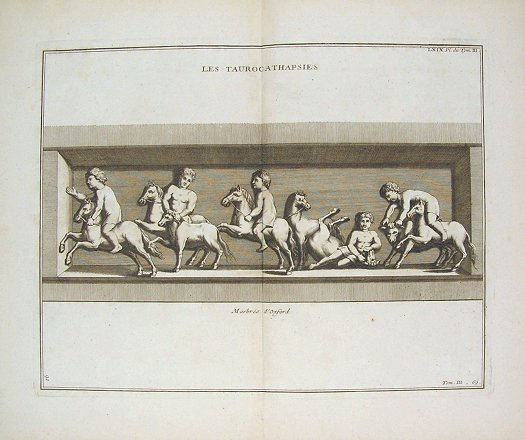 Les Taurocathapsies. ROMAN RELIEFS - BULL FIGHTING.
