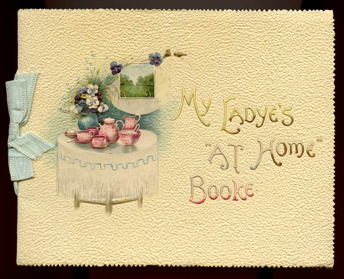 """My Ladye's """"At Home"""" Booke. ENGAGEMENT BOOK."""
