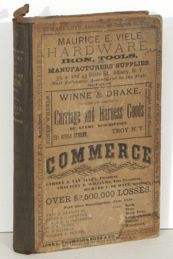 The Delaware and Hudson Canal Co.'s Railroad, (Saratoga Division), and Upper Hudson Valley Business Directory for 1885-6. NEW YORK - UPPER HUDSON VALLEY BUSINESS DIRECTORY- DELAWARE AND HUDSON CANAL COMPANY.