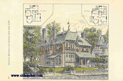 Sketch for Cottage at Pittsmon PA. Bruce Price Arch. 841 Bdwy. New York. ARCHITECTURE - AMERICAN / NEW YORK.