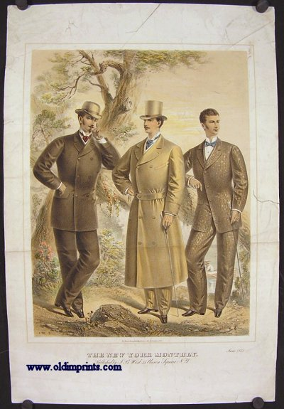 The New York Monthly. June 1875. 1870s FASHION.