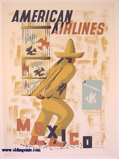 American Airlines. Mexico. AMERICAN AIRLINES / MCKNIGHT KAUFFER / MEXICO.