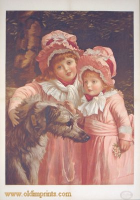 Best of Friends. Christmas Number of the London Illustrated News. CHILDREN / DOGS.
