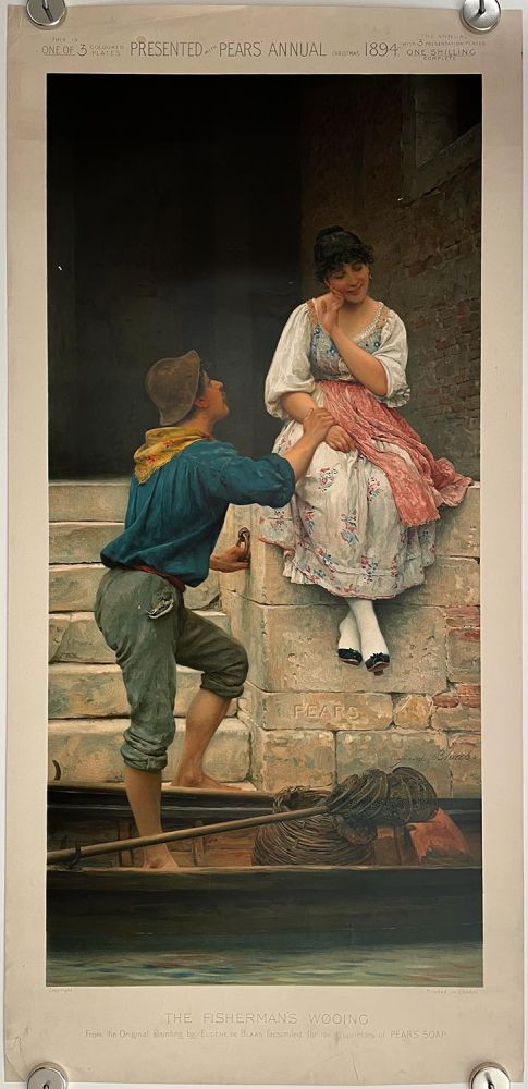 The Fisherman's Wooing. PEARS SOAP ANNUAL CHROMOLITHOGRAPH.
