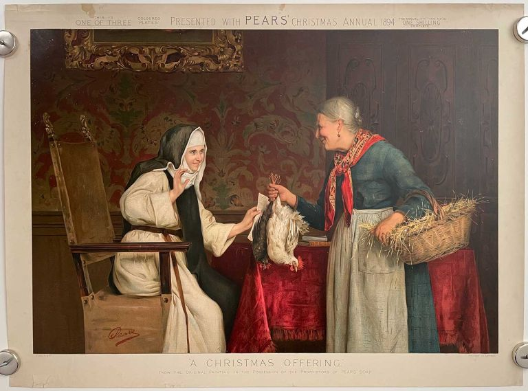 A Christmas Offering. PEARS SOAP ANNUAL CHROMOLITHOGRAPH.