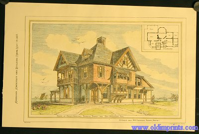 House At Prides Crossing, Beverly Farms. For Geo. A. Goddard Esq. E.C. Cabot and F.W. Chandler Archts, Boston. ARCHITECTURE - AMERICAN / BOSTON.