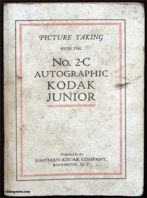 Picture Taking with the No. 2-C Autographic Kodak Junior. PHOTOGRAPHY MANUAL.