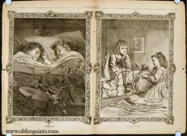 Harper's Weekly. COMPLETE ISSUE, Front cover illustration: Worn Out. CHRISTMAS / POLITICAL / TOYS.