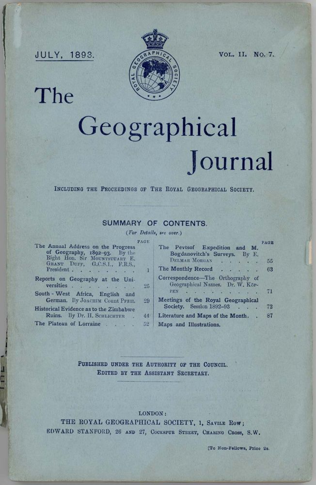 The Geographical Journal. CHINA / TURKESTAN.