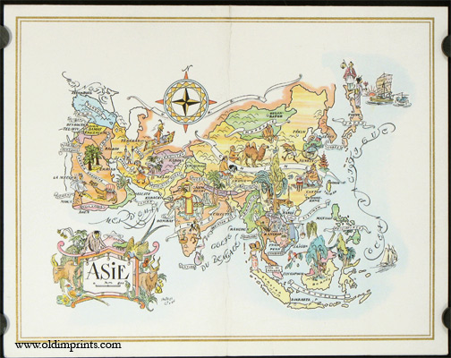 Asie. The President Special Pan American Menu. ASIA / PAN AM / MENU.