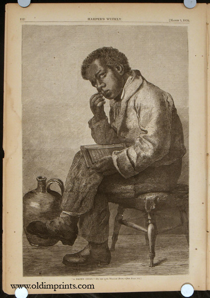 Harper's Weekly. COMPLETE ISSUE, Front cover illustration: The Late Joseph Wesley Harper. BLACK AMERICANA / JAPAN / FASHION / LOVE, MONEY.