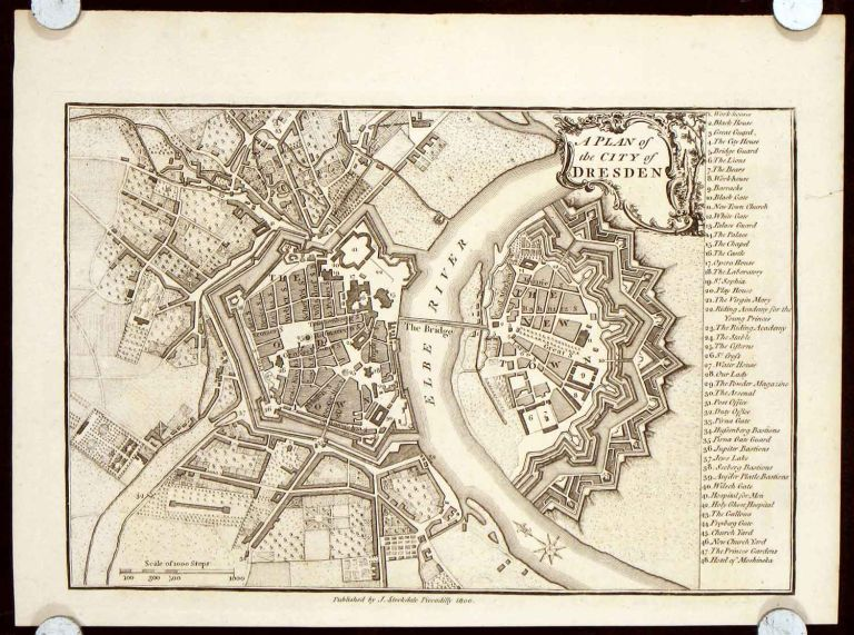 A Plan of the City of Dresden. GERMANY - DRESDEN.