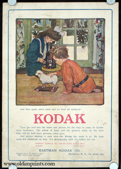 Kodak. And then again, when snow and ice hold all outdoors--. ELIZABETH SHIPPEN GREEN.