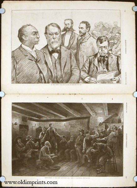 Electioneering in the Rocky Mountains (in complete edition of Harper's Weekly magazine