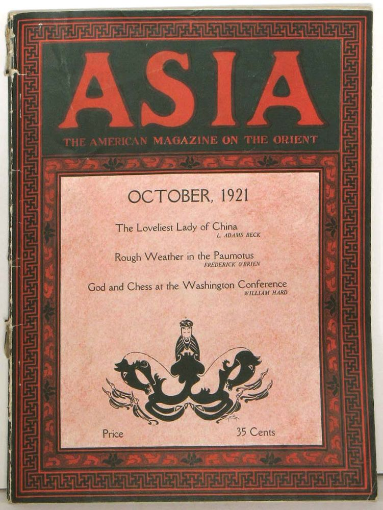 Asia. The American Magazine of the Orient. October 1921