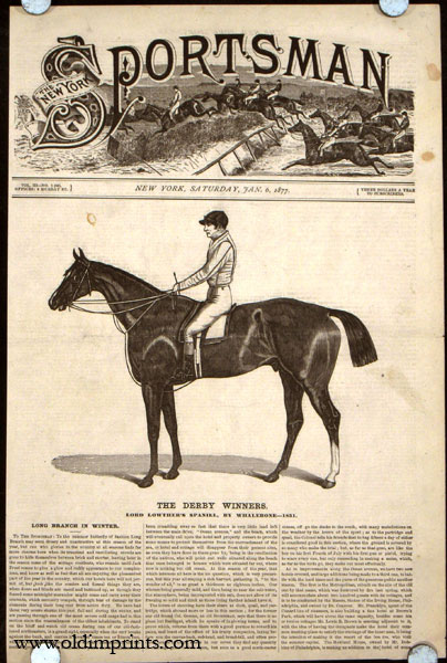 The Derby Winners. Lord Lowther's Spaniel, by Whalebone---1831. HORSE RACING.