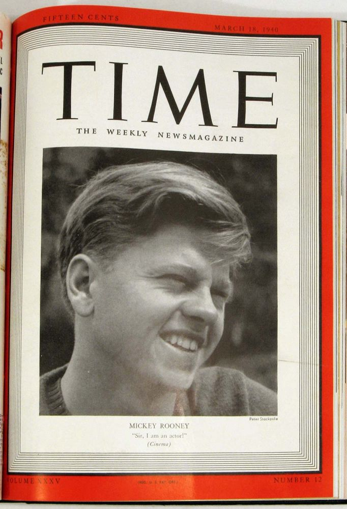 Time The Weekly Newsmagazine. BOUND VOLUME January - March 1945. MICKEY ROONEY etc TRUMAN.