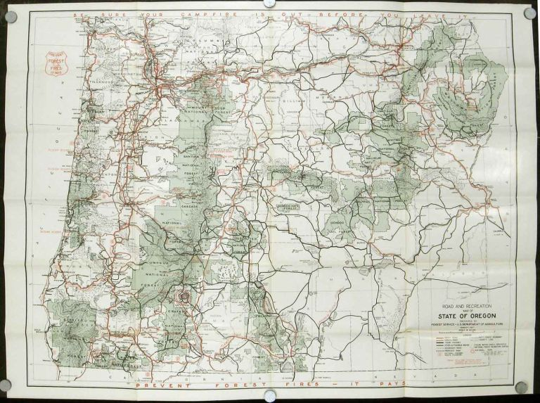Road and Information Map for the National Forests of Oregon. U.S.  Department of Agriculture Forest Service North Pacific District. Map title:  Road and ...