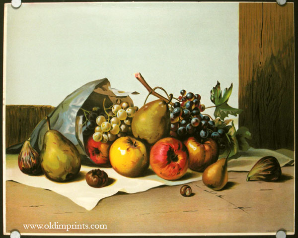 Untitled still life with fruit. STILL LIFE.