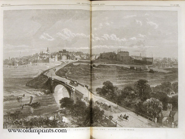 The Illustrated London News. 1869 - (07 - 12). July 3 to December 25. UNION PACIFIC RAILWAY / SUEZ CANAL.