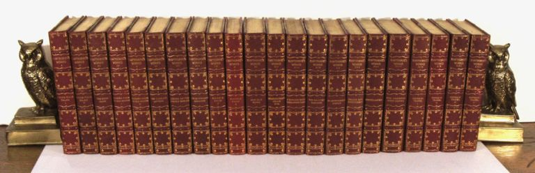 The Complete Writings of Nathaniel Hawthorne with Portraits, Illustrations, and Facsimiles IN TWENTY-TWO VOLUMES. Old Manse Edition. LEATHER BOUND SET - 22 VOLUMES, Nathaniel Hawthorne.