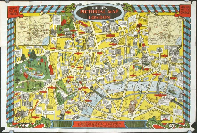 The New Pictorial Map of London. ENGLAND - LONDON.