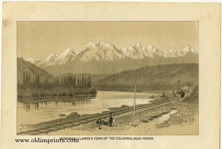 Montana - Clarke's Fork of the Columbia, Near Perma. / Hydraulic Mining in the Northwest