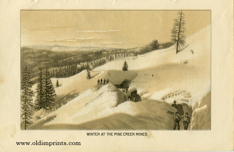 Winter at the Pine Creek Mines. CALIFORNIA - MINING.