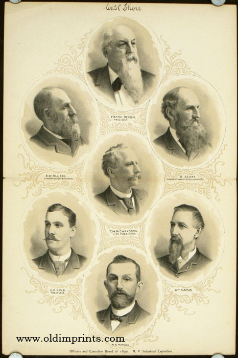 Officers and Executive Board of 1890. N. P. Industrial Exposition. OREGON - NOTEWORTHY PEOPLE.