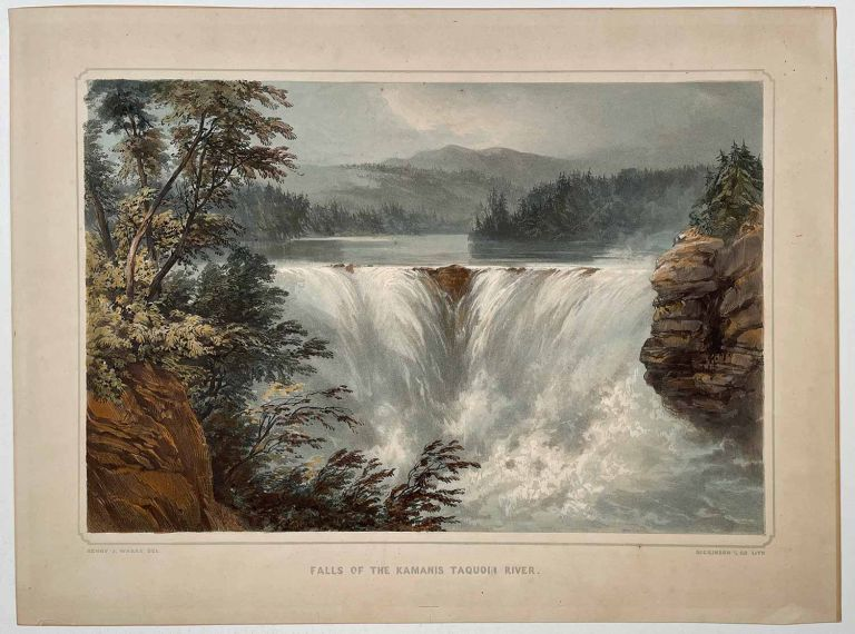 Falls of the Kamanis Taquoih River. CANADA - WARRE EXPEDITION.