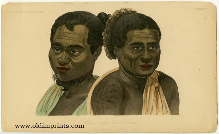 Natives of the Sandwich Islands. HAWAII - NATIVE INHABITANTS.
