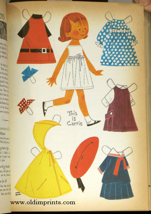 Wee Wisdom. A Character Building Magazine. January - December 1966. BOUND VOLUME. PAPER DOLLS / CHILDREN.