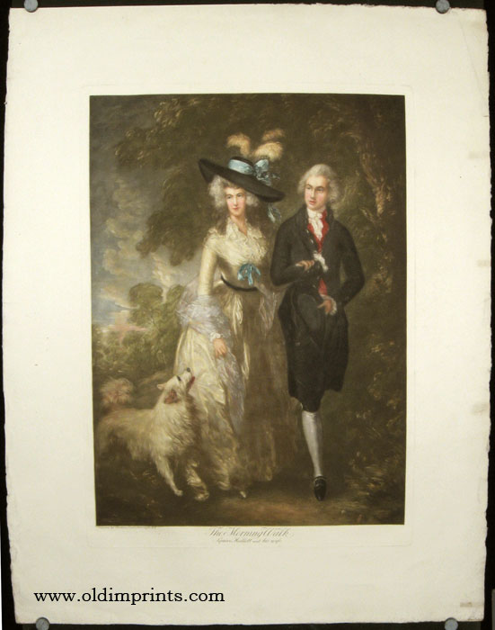 The Morning Walk. Squire Hallett and his wife. GAINSBOROUGH / ROCOCO FASHION.
